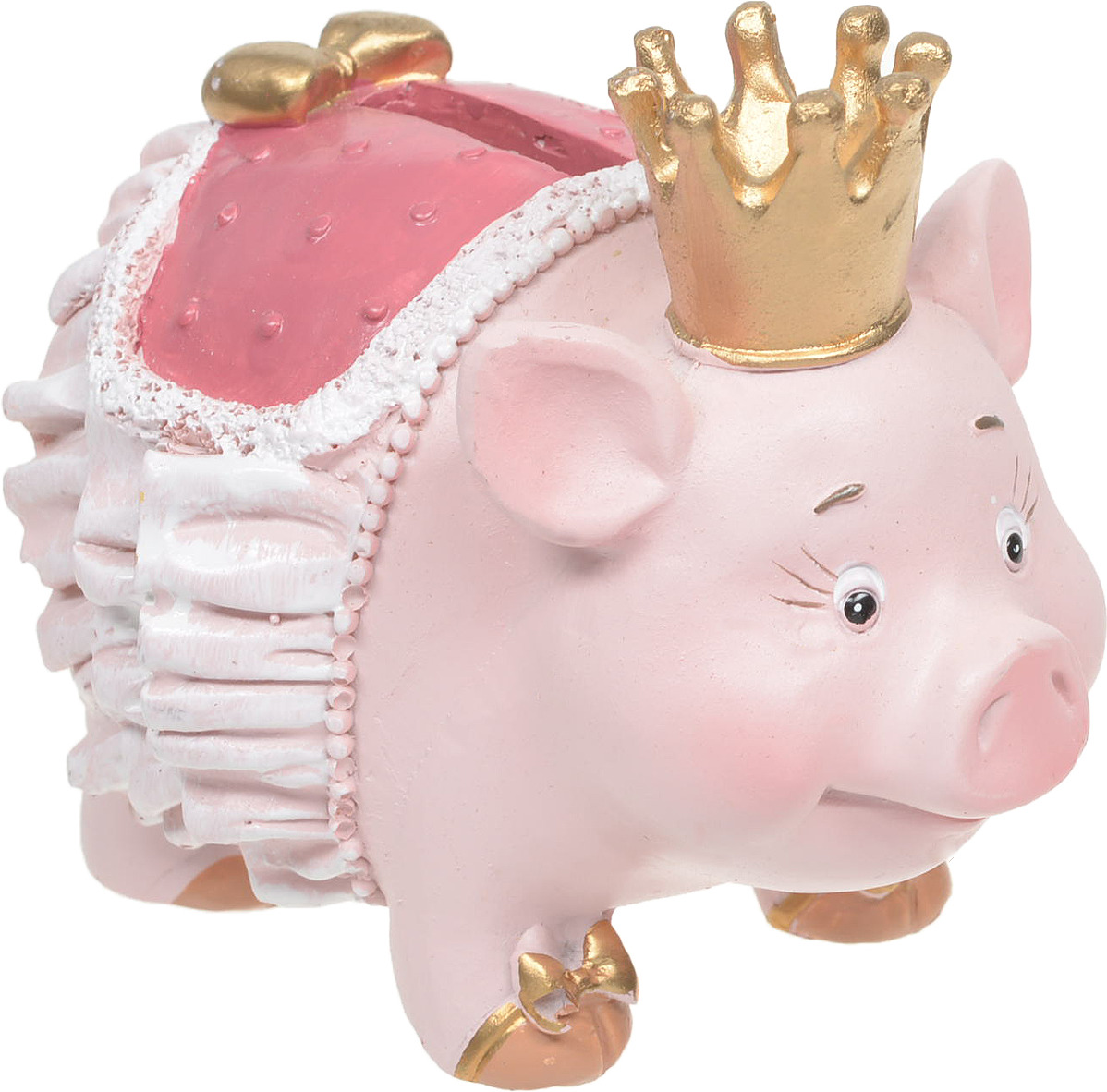Декоративная копилка Magic Time Свинья с короной, 12 х 7 х 9 см декоративная копилка magic time свин путешественник 12 х 7 х 9 см