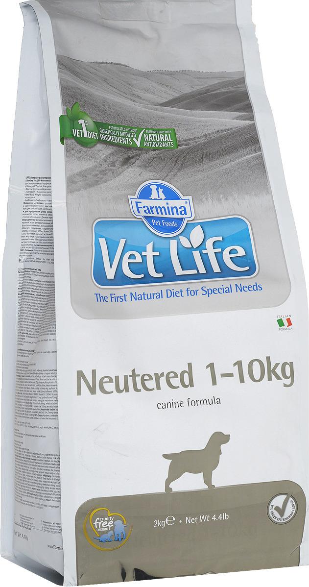 Корм сухой Farmina Vet Life для взрослых кастрированных или стерилизованных собак весом до 10 кг, диетический, 2 кг