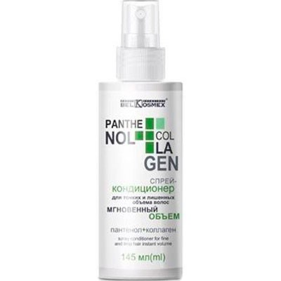 Спрей-кондиционер Белкосмекс Panthenol+Collagen для тонких и лишённых объёма волос, 145 мл