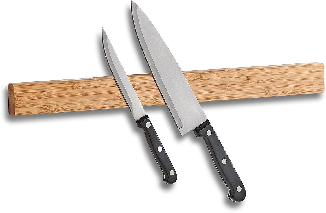 Фото - Держатель для ножей Zeller, 24567, светлое дерево, 45 х 4 х2 см держатель для кухонного полотенца zeller на присосках 14 х 14 х 33 см
