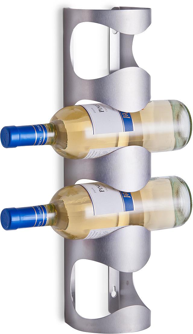 Фото - Держатель для бутылок Zeller, 27365, стальной, 11.5 х 9.8 х 45 см держатель для кухонного полотенца zeller на присосках 14 х 14 х 33 см