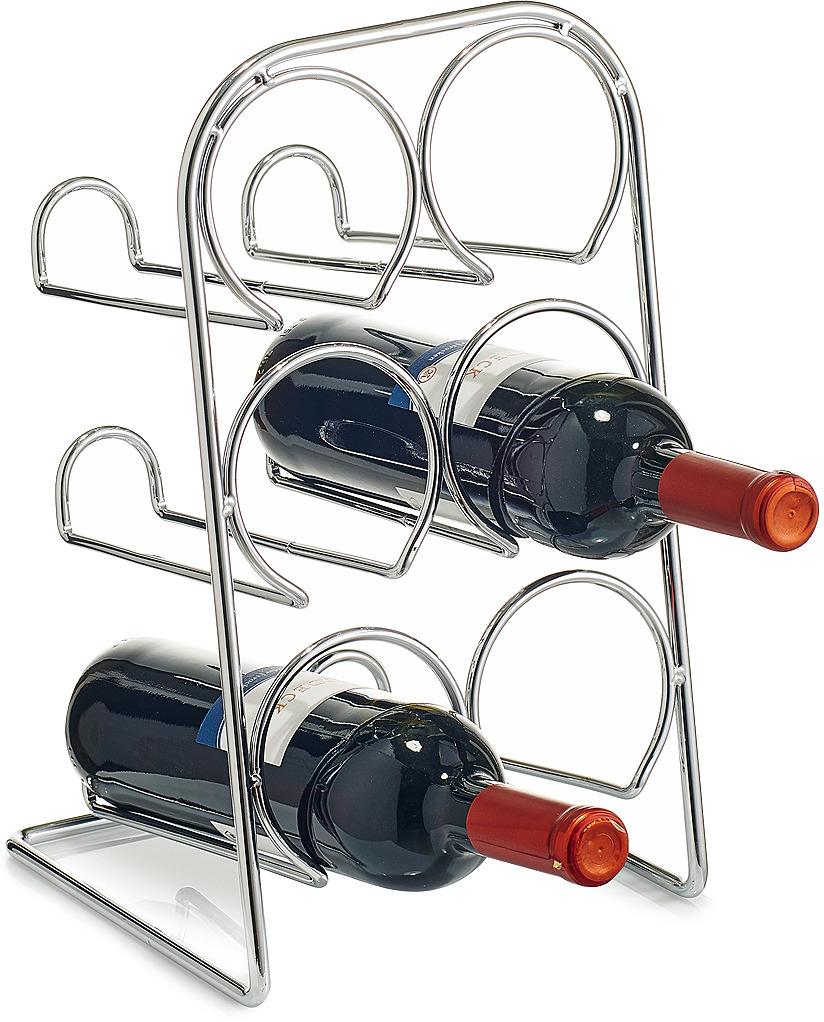 Фото - Подставка для бутылок Zeller, 27370, стальной, 21.5 х 20 х 37 см подставка для бутылок magic home ассорти цвет белый 19 х 19 х 37 см