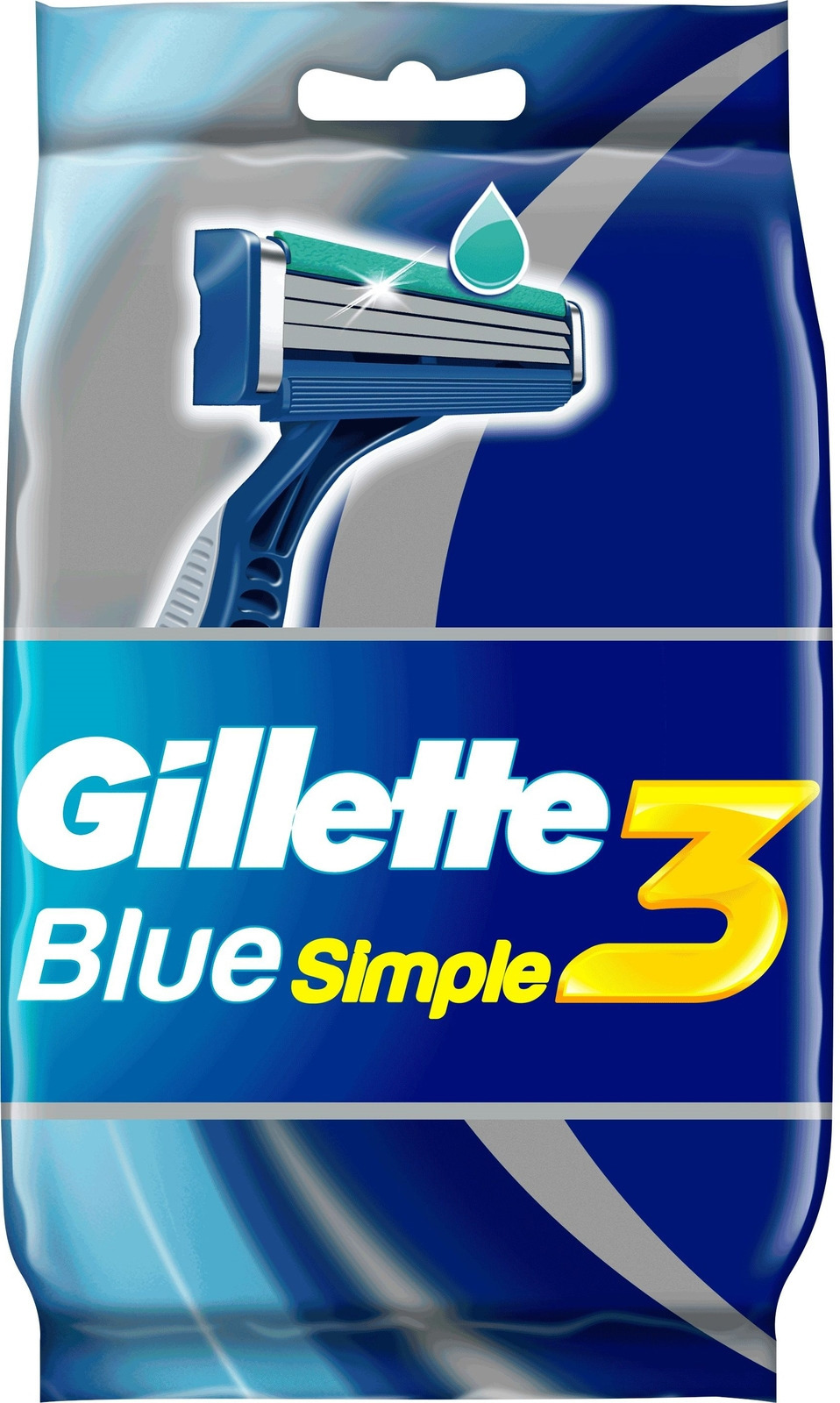 Gillette Blue Simple3 одноразовые мужские бритвы, 4шт одноразовые бритвы для женщин gillette venus 3 3шт