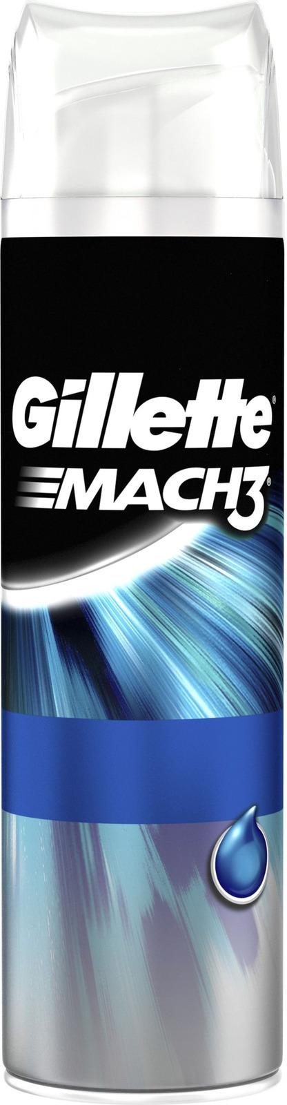 Гель для бритья Gillette Mach3 экстракомфорт, 200мл набор gillette mach3 станок см кассета гель д бритья экстракомфорт 75мл