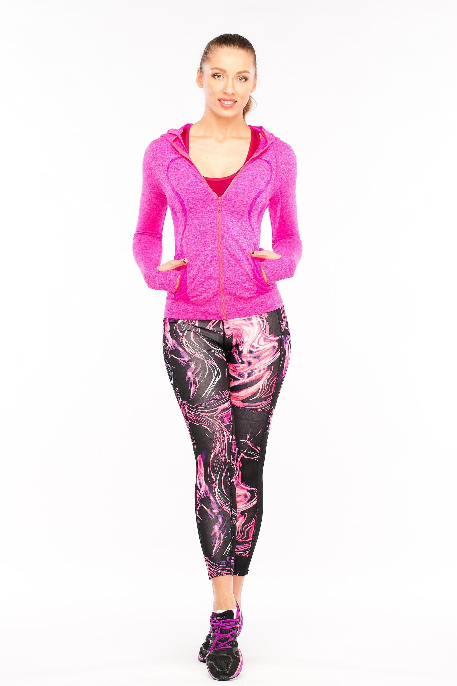 Толстовка Pro-fit219 PINK (M)Споривная толстовка для фитнеса, пробежки, йоги и т.д.