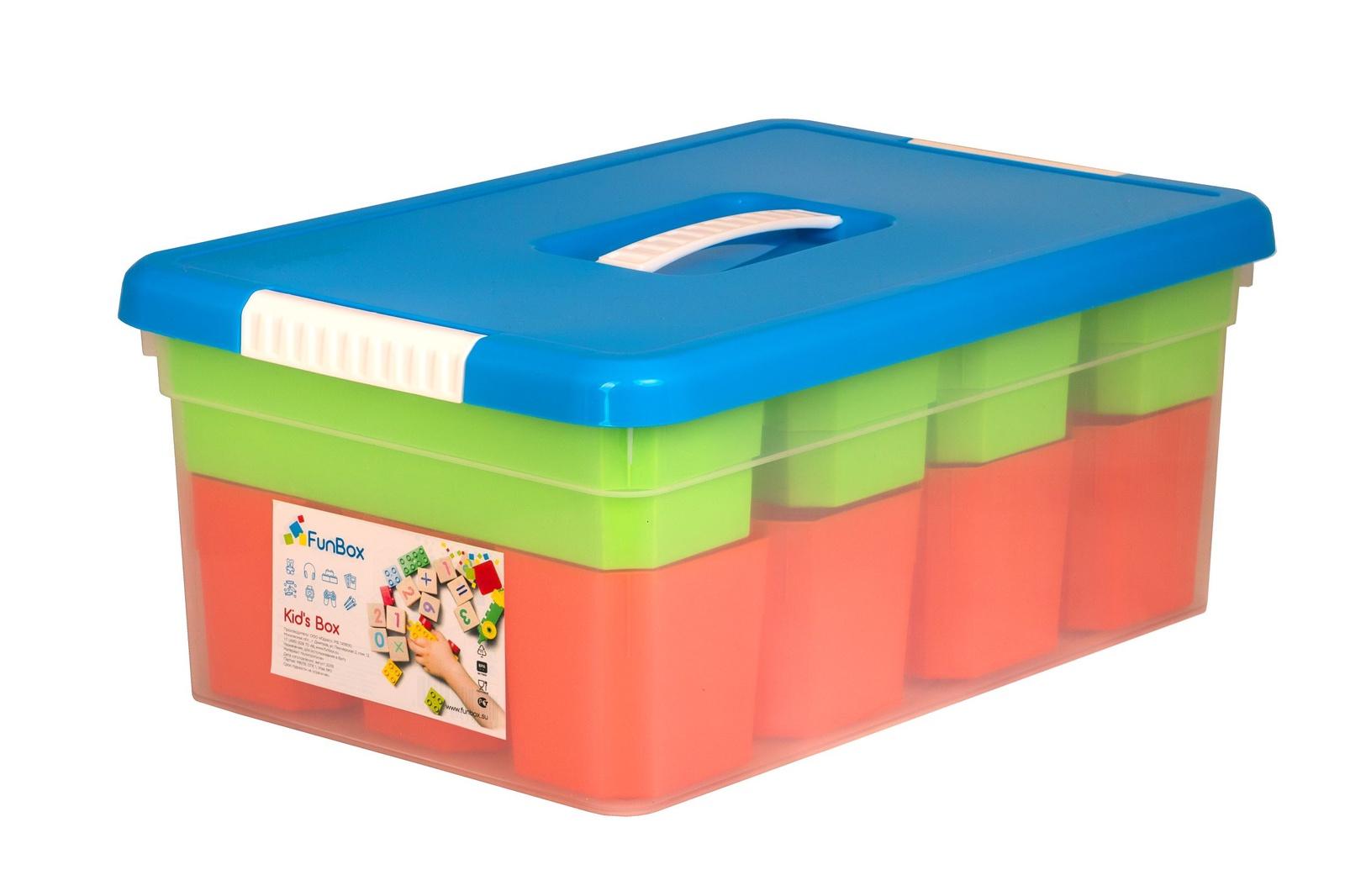 Ящик для игрушек FunBox Органайзер 10л, FB5051, Полипропилен ящики для игрушек альтернатива башпласт контейнер для игрушек феи