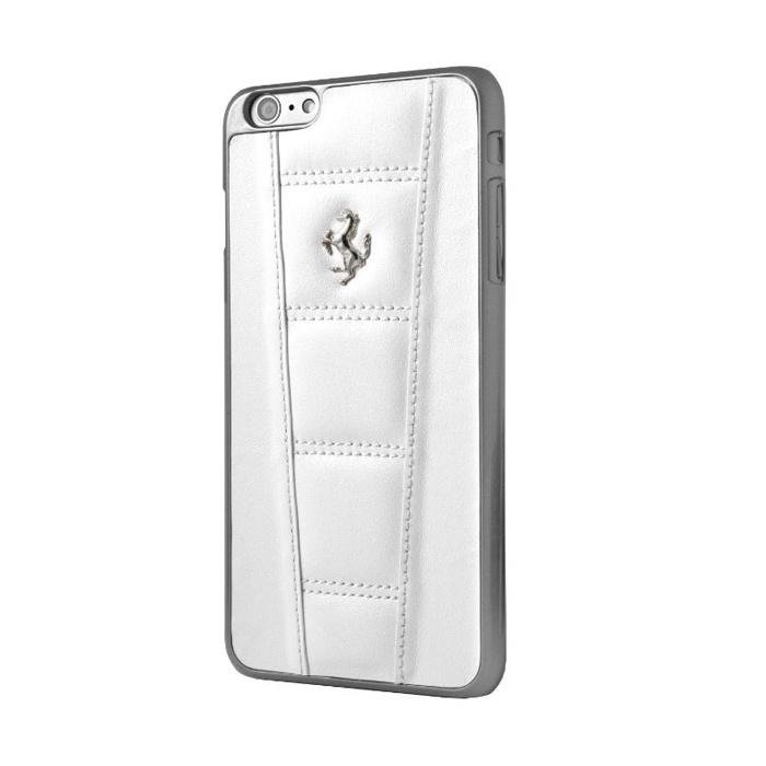 Чехол для телефона CG Mobile Ferrari Real Leather Hard Case для Apple Iphone 6/6S, белый