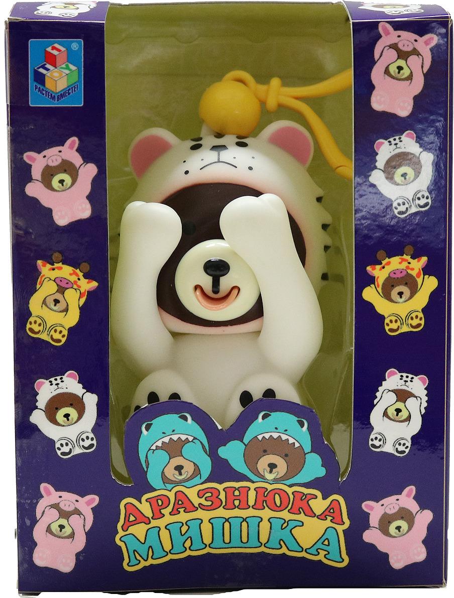 Интерактивная игрушка 1TOY Мишка Дразнюка, в костюме снежного барса, Т14726 интерактивная игрушка 1toy плюшевый микрофон bobbie