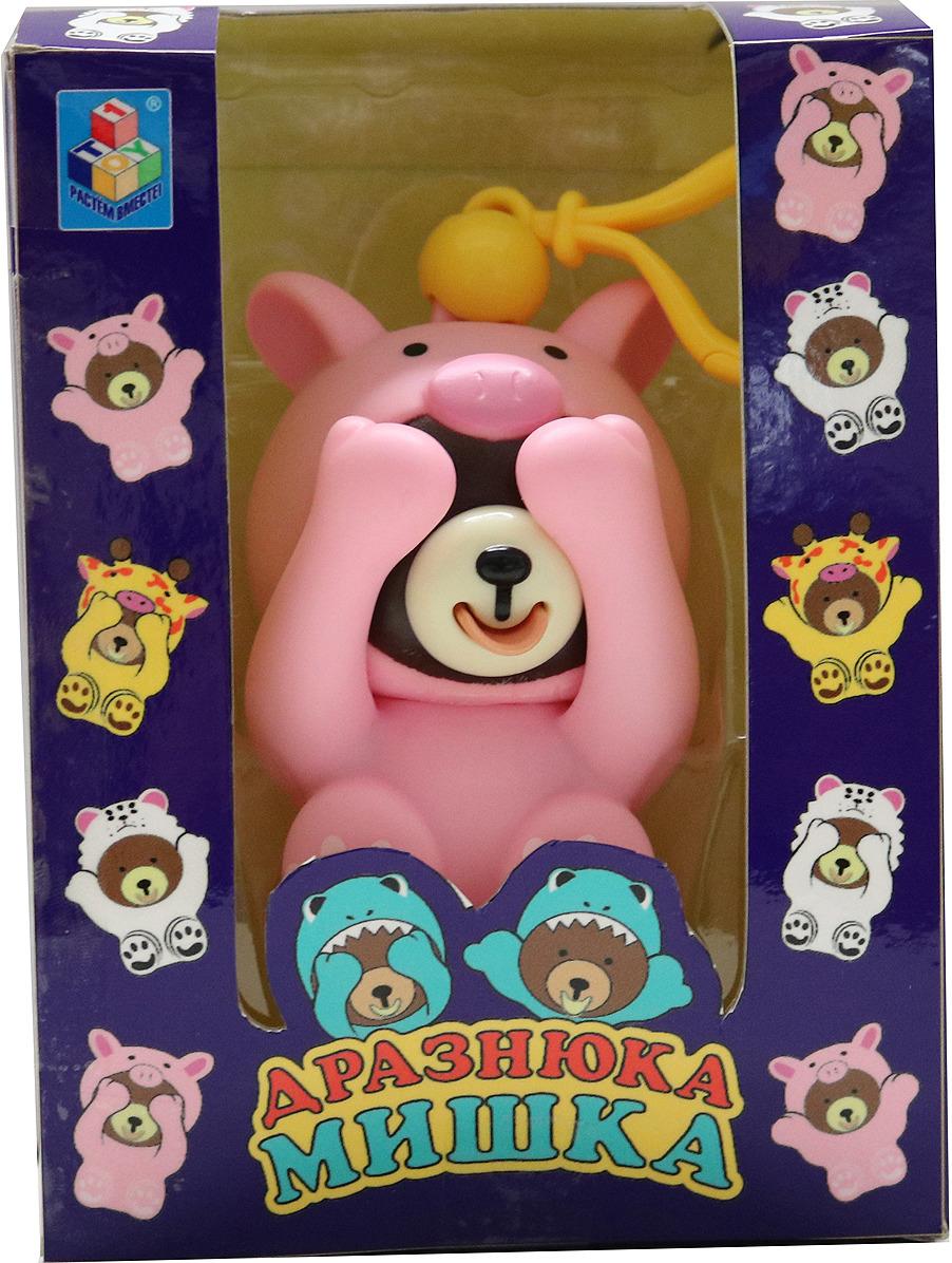 Интерактивная игрушка 1TOY Мишка Дразнюка, в костюме поросенка, Т14729 интерактивная игрушка 1toy плюшевый микрофон bobbie