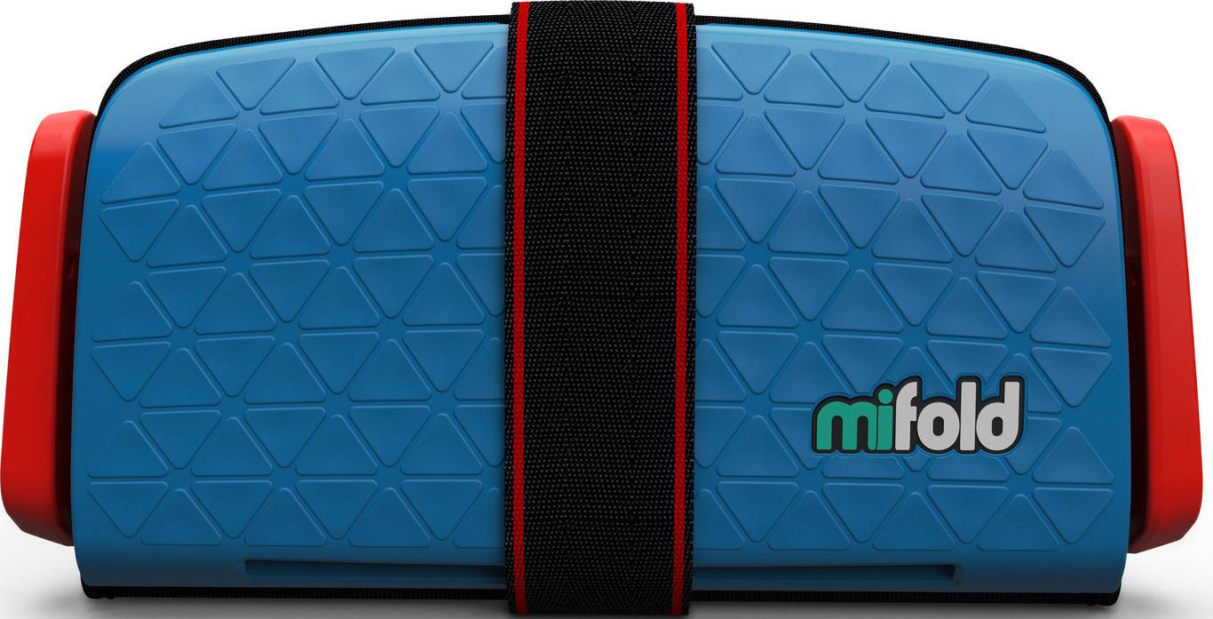 Бустер автомобильный Mifold Grab-and-Go Booster Seat, Denim Blue бустер mifold the grab and go pearl grey