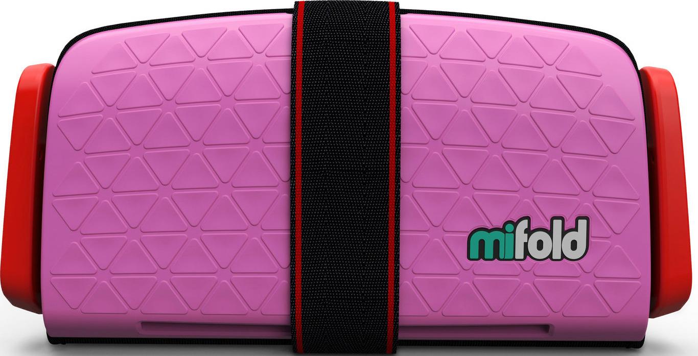 Бустер автомобильный Mifold Grab-and-Go Booster Seat, Perfect Pink бустер mifold the grab and go pearl grey