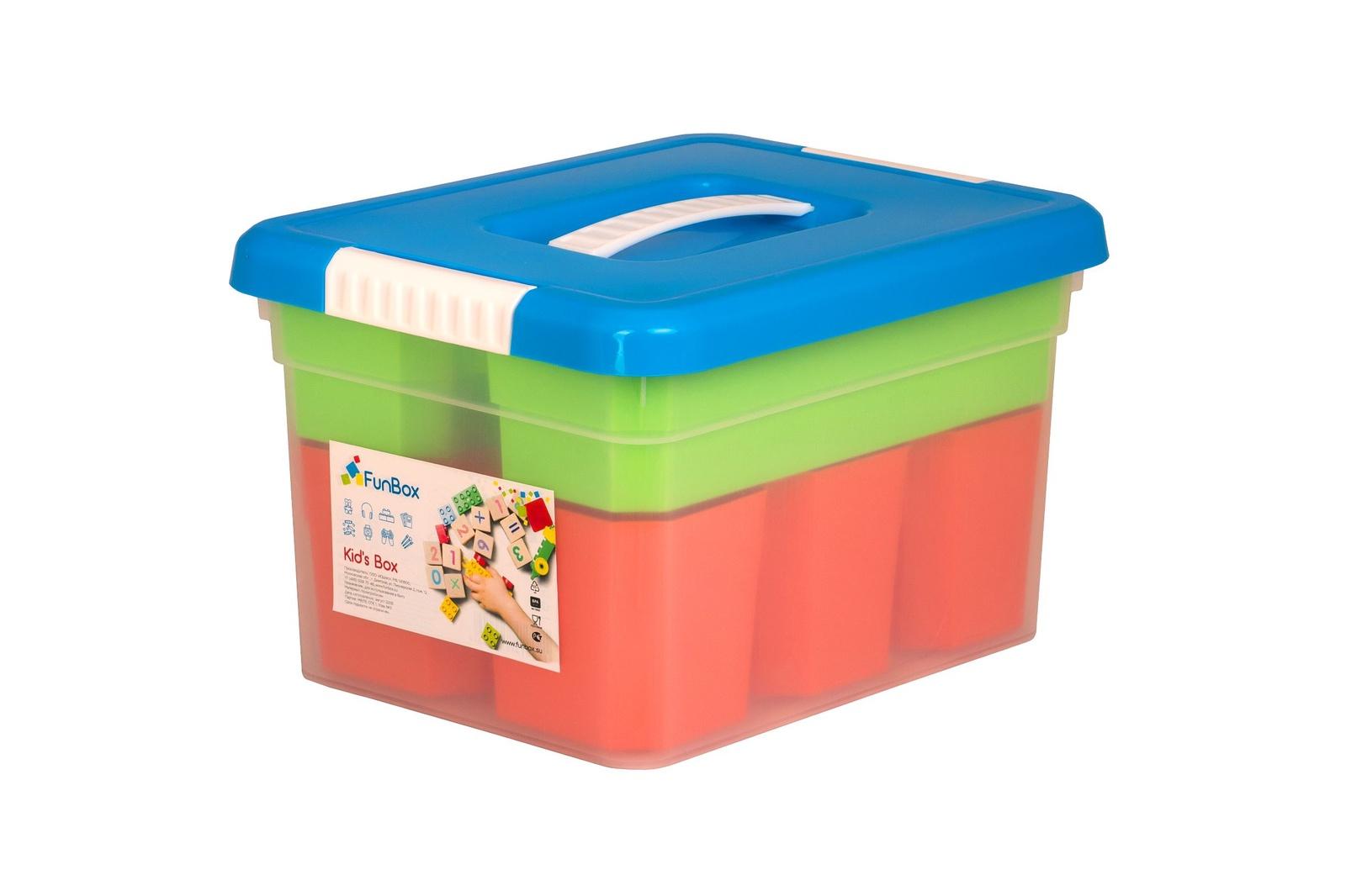 цены на Ящик для игрушек FunBox с ручкой 5л+6 вставок S + лоток S , FB5031, Полипропилен  в интернет-магазинах