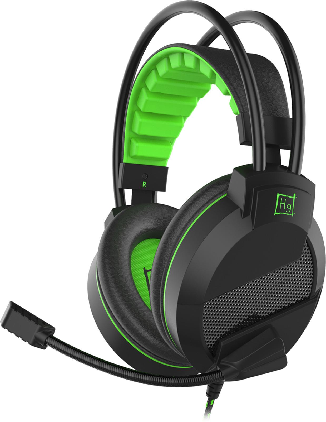 Игровые наушники Harper Gaming Mirage, GHS-R101, черный, зеленый