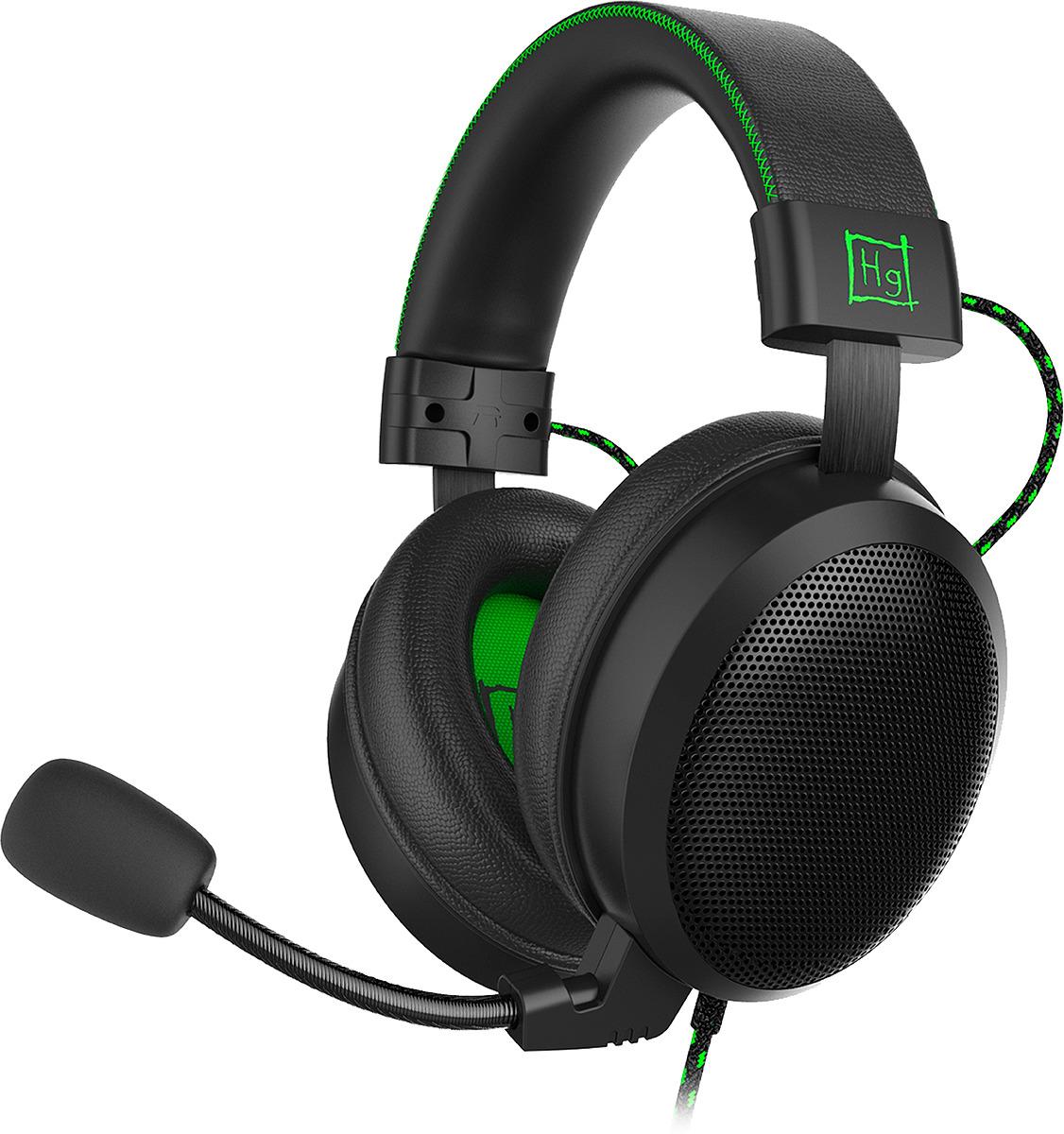 Игровые наушники Harper Gaming Master, GHS-X20, черный, зеленый