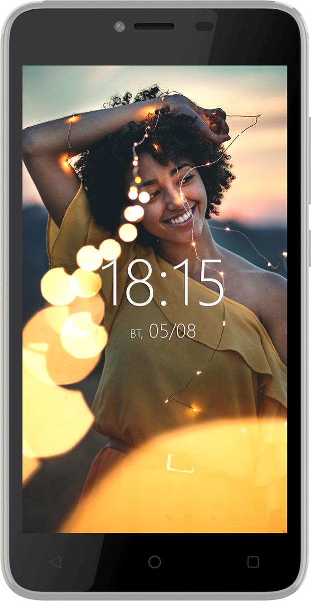 Смартфон BQ Mobile 5000G Velvet Easy 0,5/8GB, серебристый смартфон bq mobile bq 4501g fox easy violet