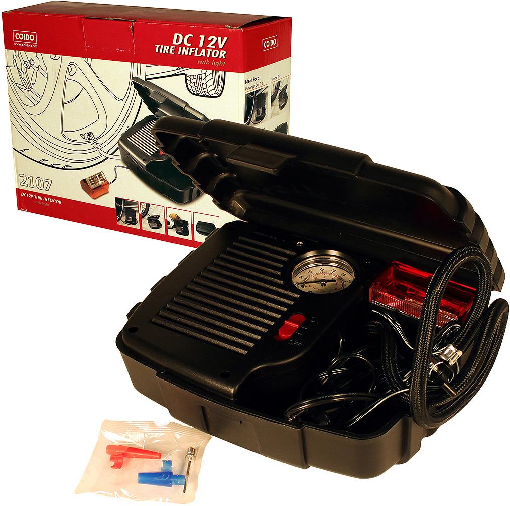 цена на Автомобильный компрессор Coido, 09158, 300PSI, 12В, с фонарем и режимом аварийной сигнализации