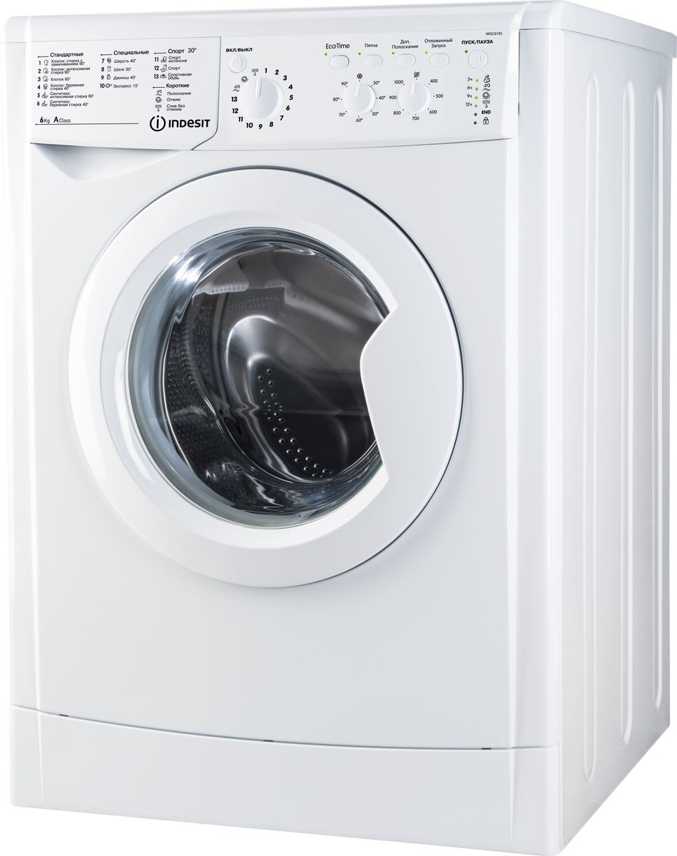 Стиральная машина Indesit IWSC 6105 (CIS), 76772, белый Indesit