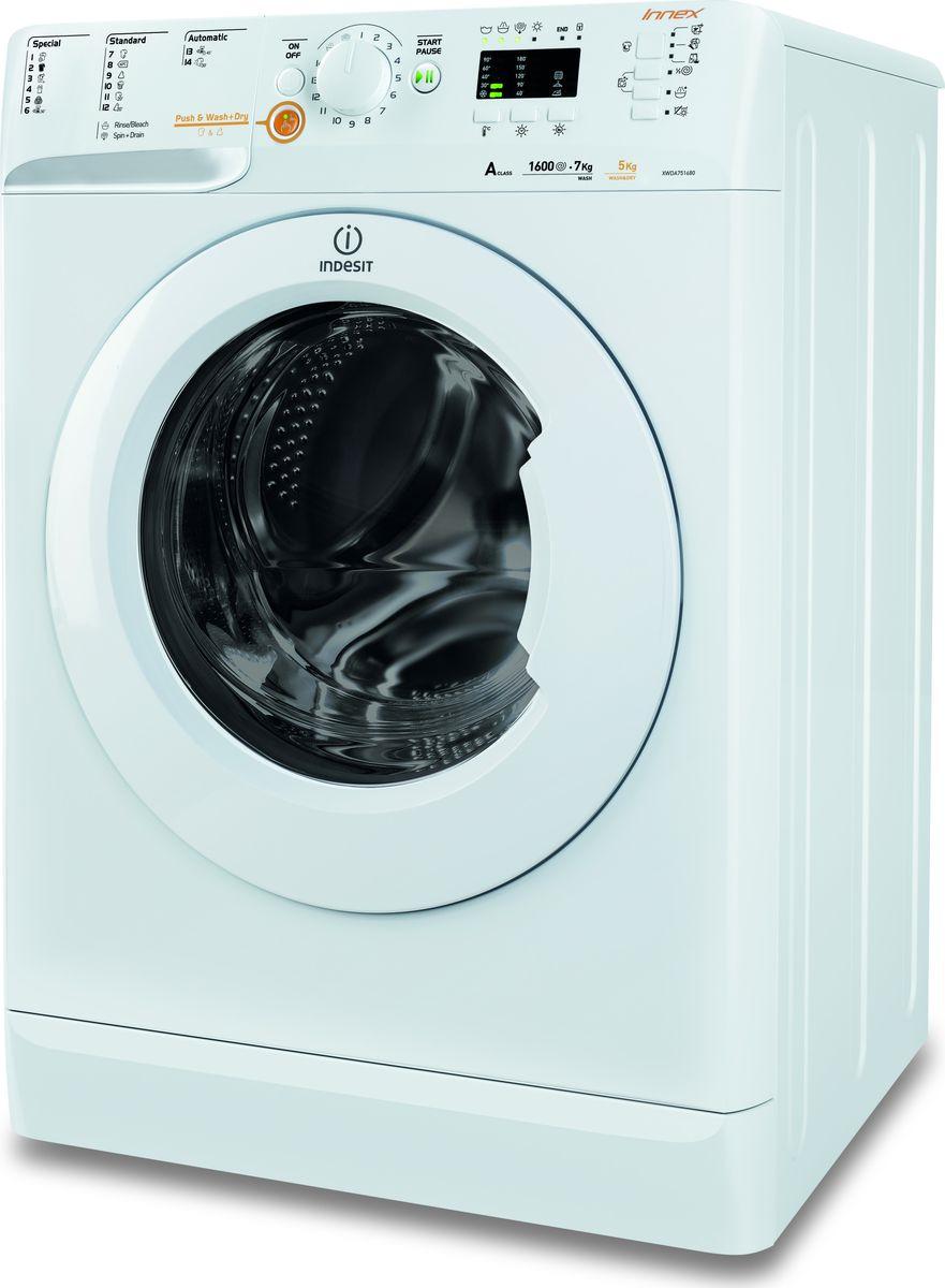 Стиральная машина Indesit XWDA 751680X W EU, 85590, белый стиральная машина indesit xwde 861480x w eu белый