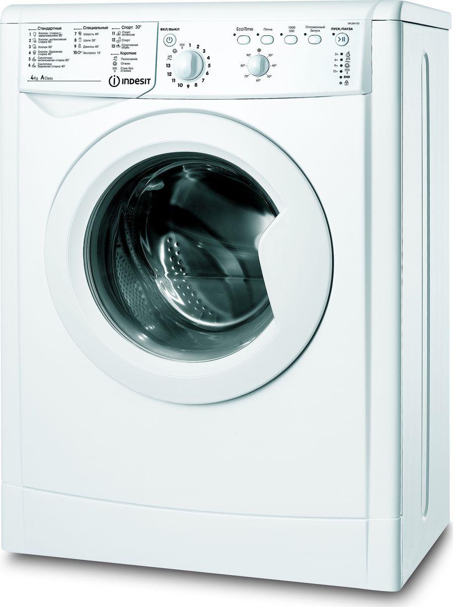 Стиральная машина Indesit IWUB 4105 (CIS), 62916, белый Indesit