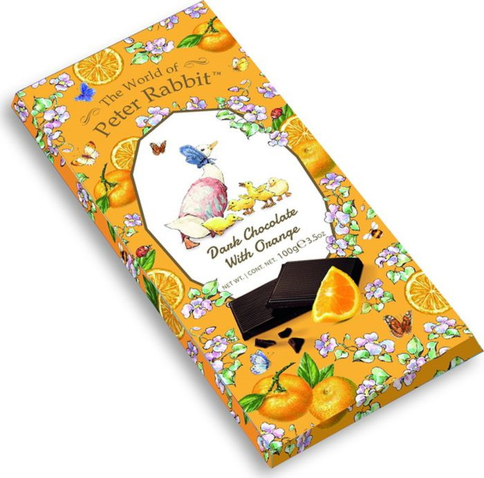Шоколад The World of Peter Rabbit Bar Dark Orange Goose темный с апельсином 100 г