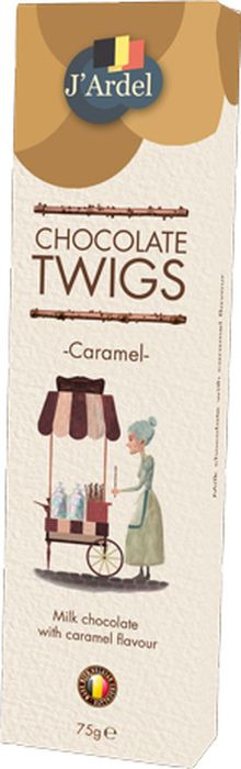 Хворост J'Ardel из молочного шоколада, со вкусом карамели, 75 г gbs конфеты фигурные из молочного шоколада с воздушным рисом и вкусом карамели 75 г