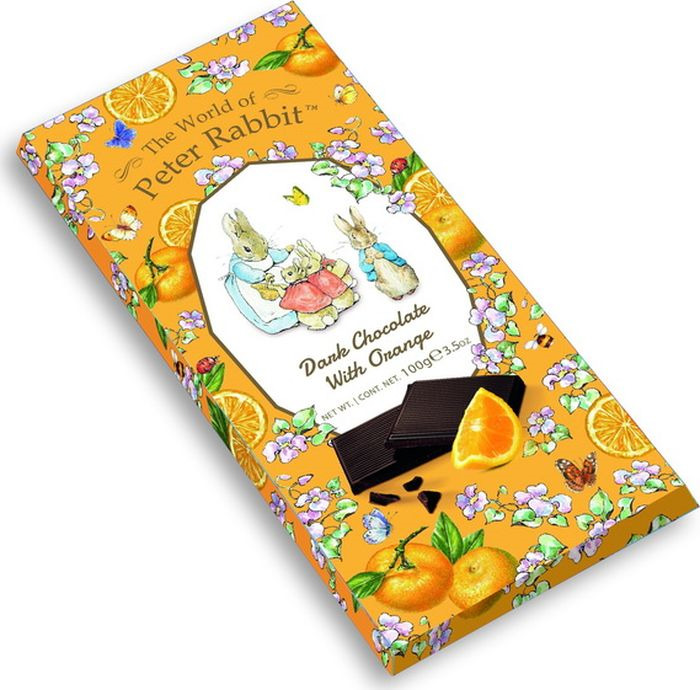 Шоколад The World of Peter Rabbit Bar Dark Orange Bunny темный с апельсином 100 г