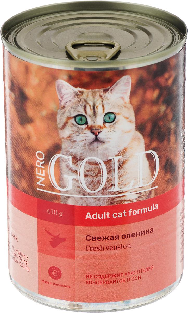 """Консервы для кошек """"Nero Gold"""", свежая оленина, 410 г"""