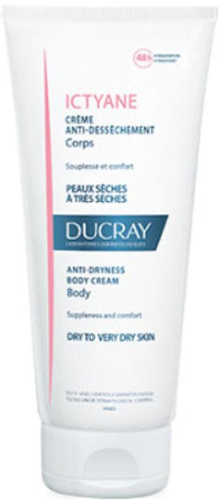 Смягчающий увлажняющий крем Ducray Ictyane, для сухой кожи, 200 мл крем для рук для очень сухой кожи интенсивный уход garnier 100 мл