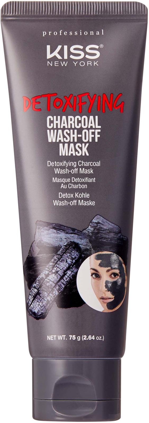 Смываемая детокс-маска Kiss New York Professional С углем, 75 г skinfood freshmade маска смываемая клюквенная freshmade маска смываемая клюквенная