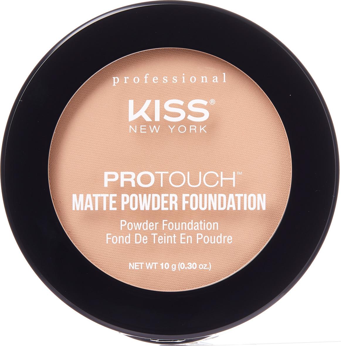 Компактная пудра Kiss New York Professional Protouch, матирующая, Nude Beige, 10 г
