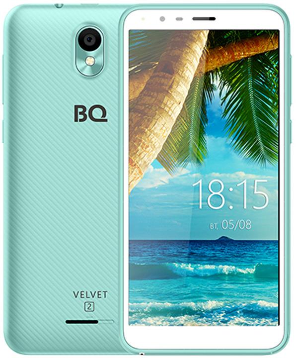 Смартфон BQ Mobile 5302G Velvet 2 1/8GB, мятно-синий цена и фото