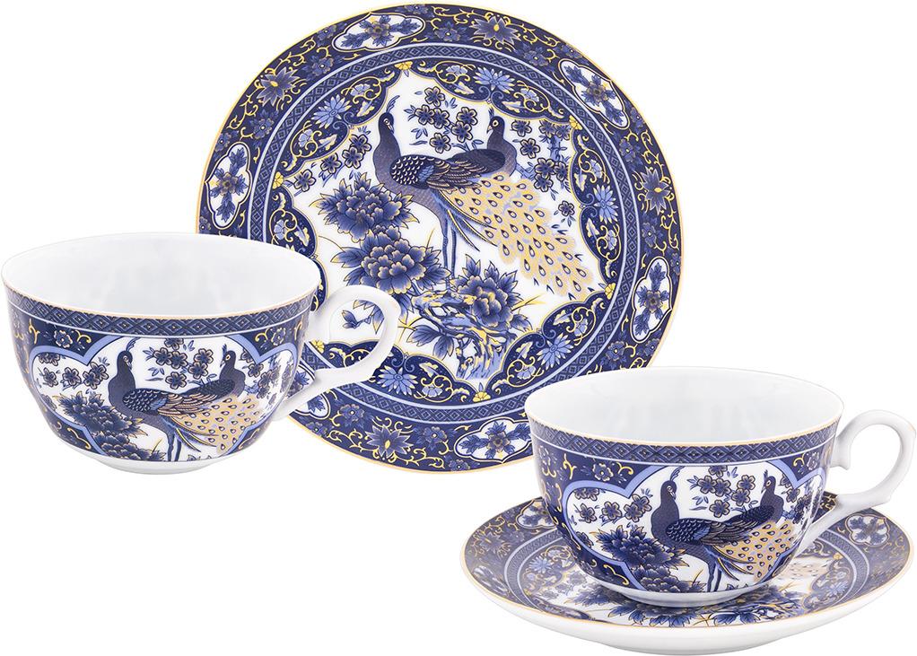 Набор чайный Elan Gallery Павлин синий, 730743, синий, белый, 4 предмета набор чайный 12 пр синий павлин 250 мл под уп 968992 page 2
