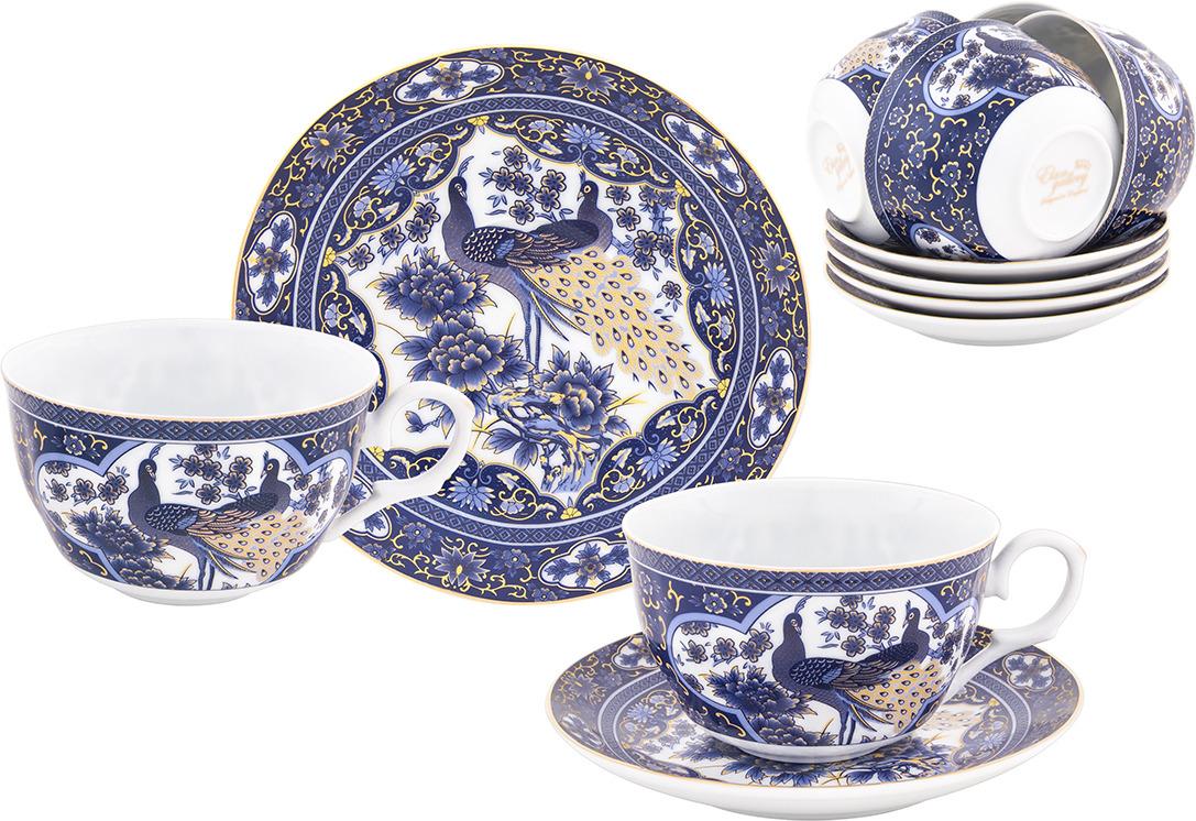 Набор чайный Elan Gallery Павлин синий, 730744, синий, белый, 12 предметов набор чайный 12 пр синий павлин 250 мл под уп 968992 page 2