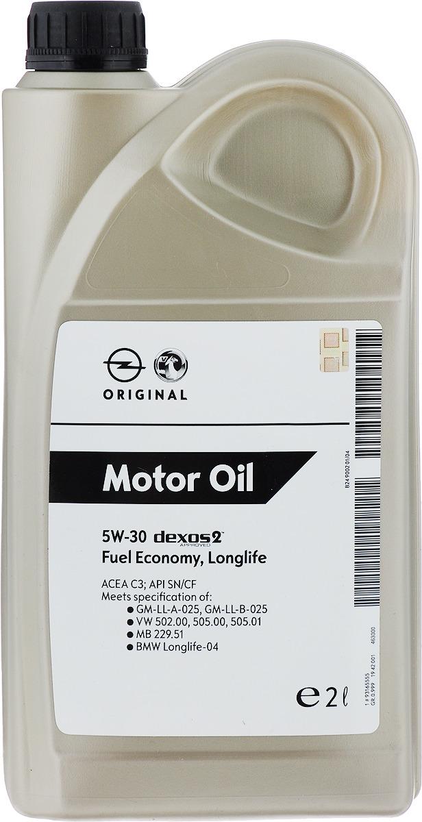 "Масло моторное ""GM"", синтетическое, класс вязкости 5W-30, 2 л"
