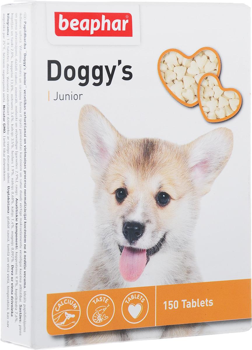 Лакомство витаминизированное для щенков Beaphar Doggy's Junior, 150 таблеток витамины 8 в 1 для щенков