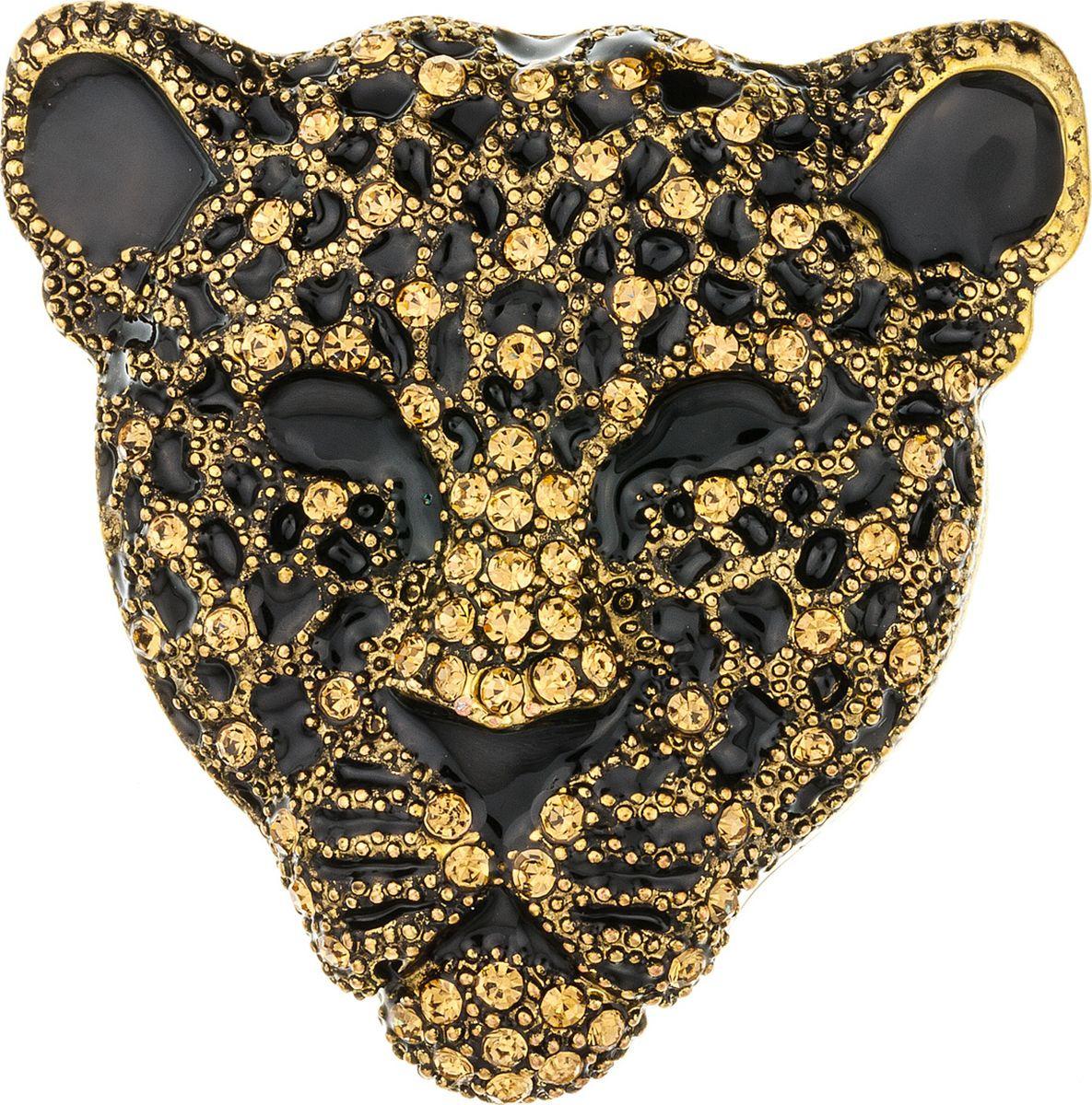Брошь женская Модные истории, 19/0535, золотистый19/0535Оригинальная стильная брошь в виде головы гепарда как никакой другой аксессуар воплощает тренд на анималистичность. Украшение выполнено из металла цвета состаренное золото и декорировано россыпью страз. Аксессуар достаточно объемный - такой лучше всего носить на одежде из плотных тканей.