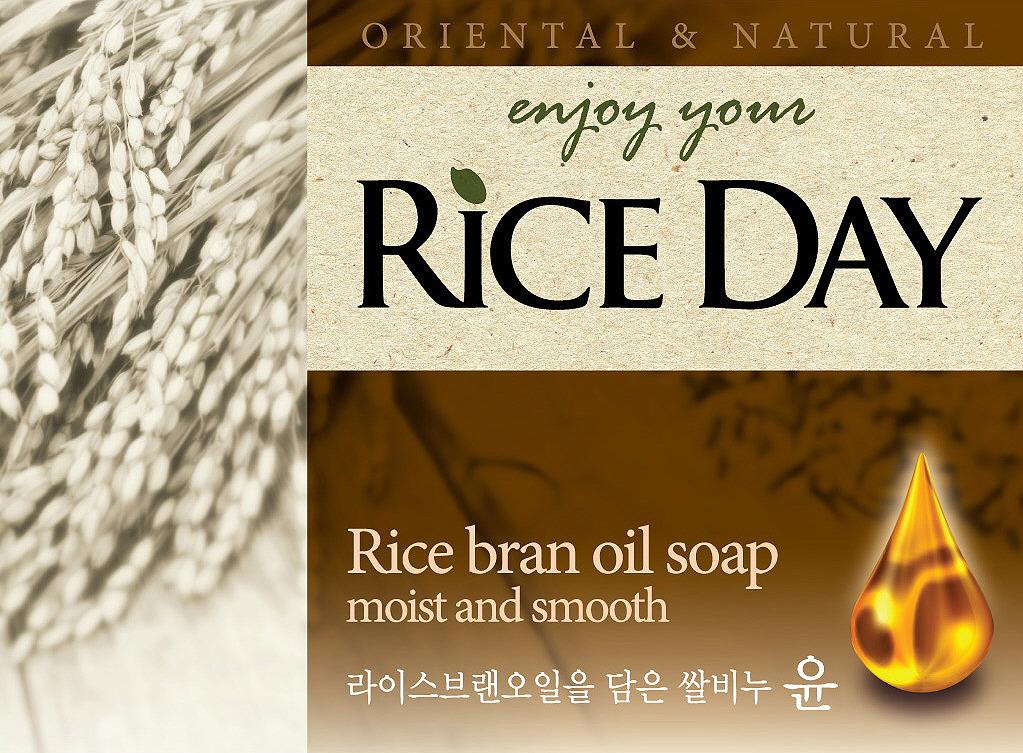 CJ Lion Riceday Мыло туалетное с экстрактом рисовых отрубей, 100 г