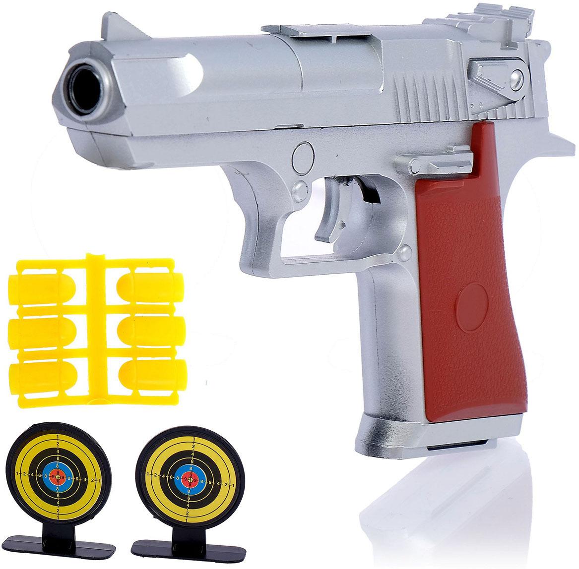 Игрушечное оружие Пистолет Сильвер с мишенями, 119198 игрушечное оружие zuru x shot ружье с мишенями атака пауков