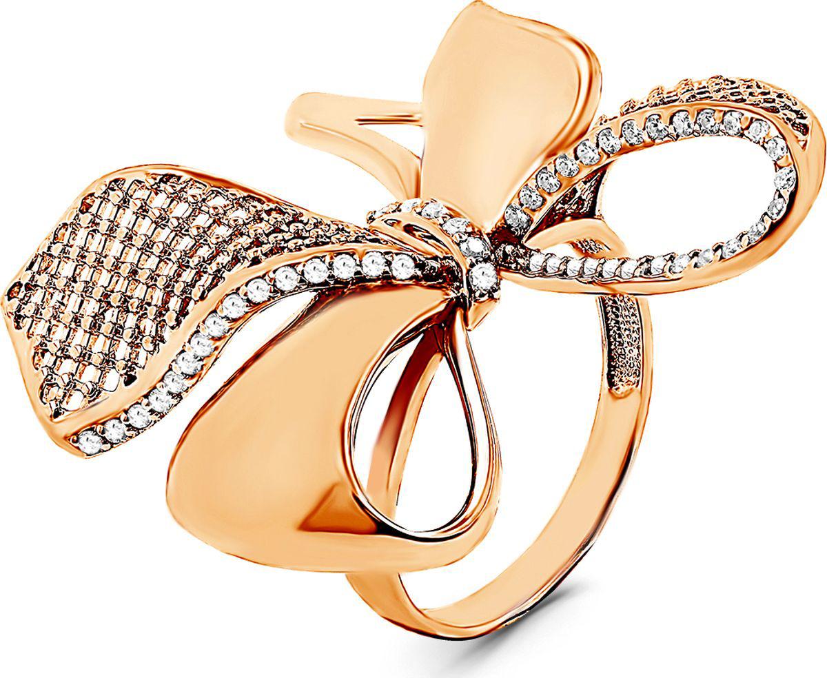 Кольцо женское Серебро России, серебро 925, к-3584з00, размер 18,5СереброКольцо из золочёного серебра с фианитами
