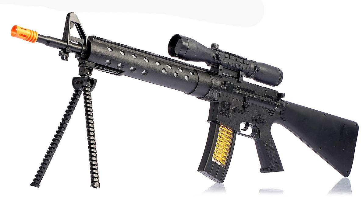 Игрушечное оружие Автомат М16 штурм, 1565857 игрушечное оружие pixel crew автомат м16 8бит синий пиксельный 62 см