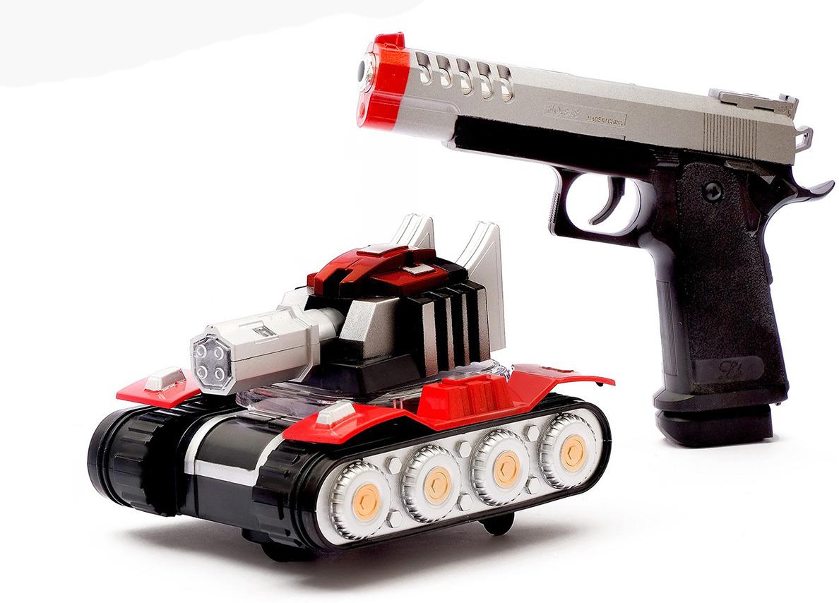 Машинка Танк музыкальный + пистолет, 167939 машинка vsp танк 628437
