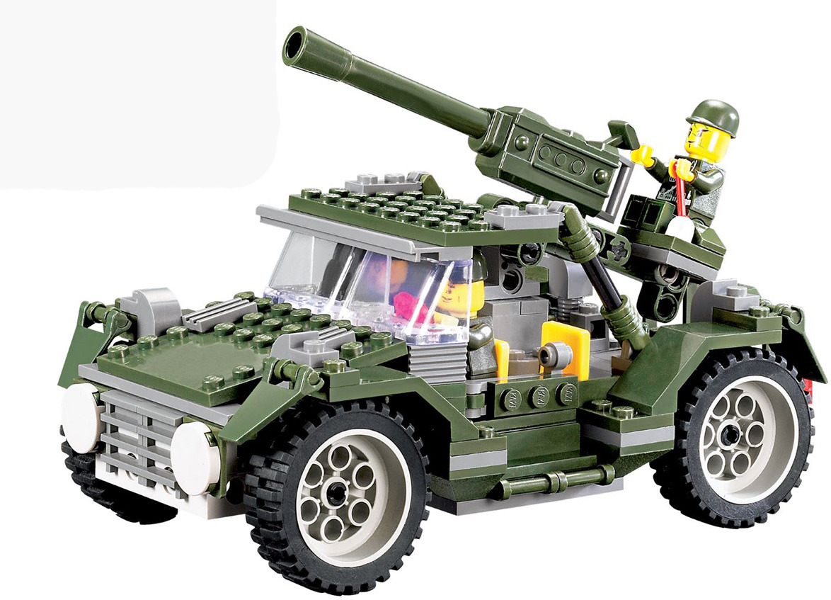 Пластиковый конструктор Unicon Армия Боевой пикап, 1800956 пикап оружие против кого