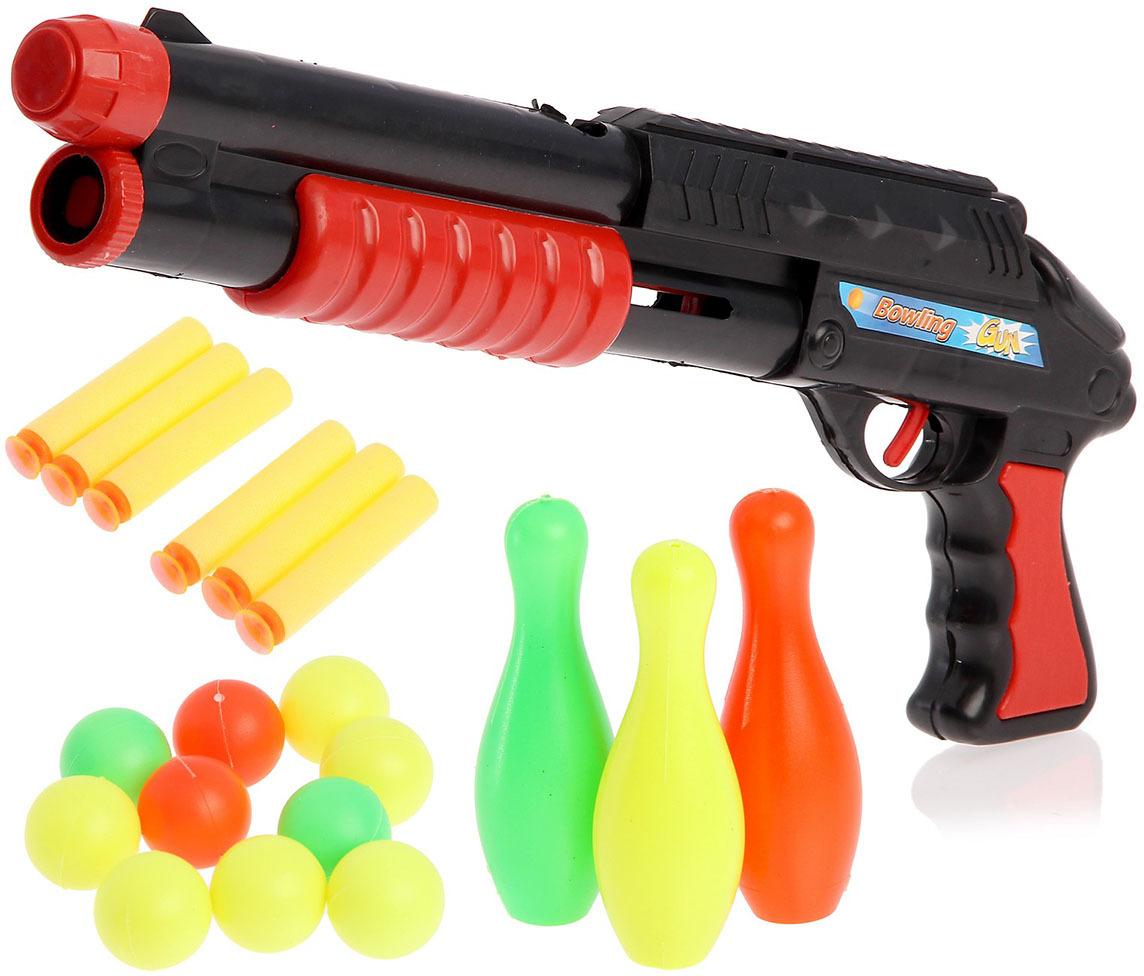 Игрушечное оружие Ружье Комбат с кеглями и шарами, 2624346 игрушечное оружие zuru x shot ружье с мишенями атака пауков