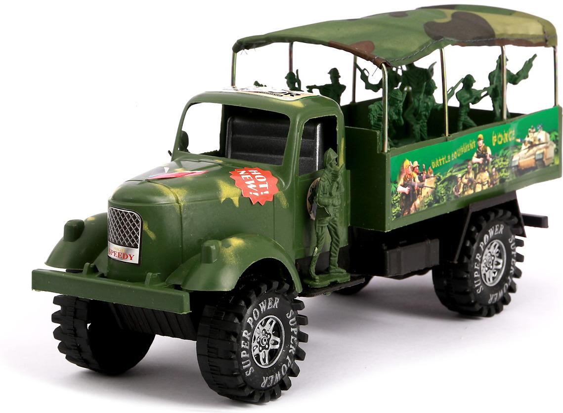 Машинка Грузовик Армия инерционный с солдатами, 480552 грузовик dave инерционный