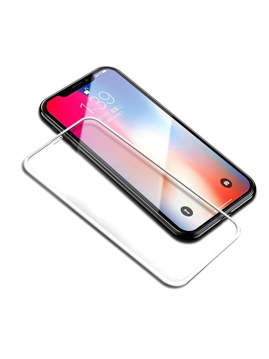 Защитное стекло 5D Glfss shield iPhone X/XS, IPXwh, белый