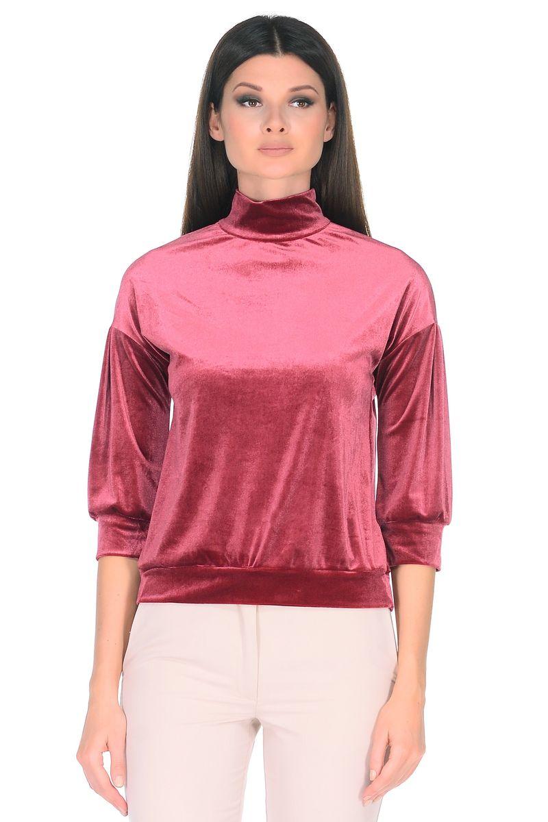 Джемпер женский La Via Estelar, цвет: бордовый. 33950. Размер 4433950