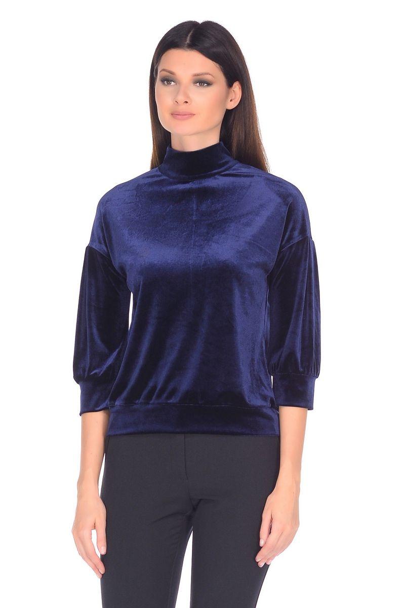 Джемпер женский La Via Estelar, цвет: синий. 33950. Размер 5233950