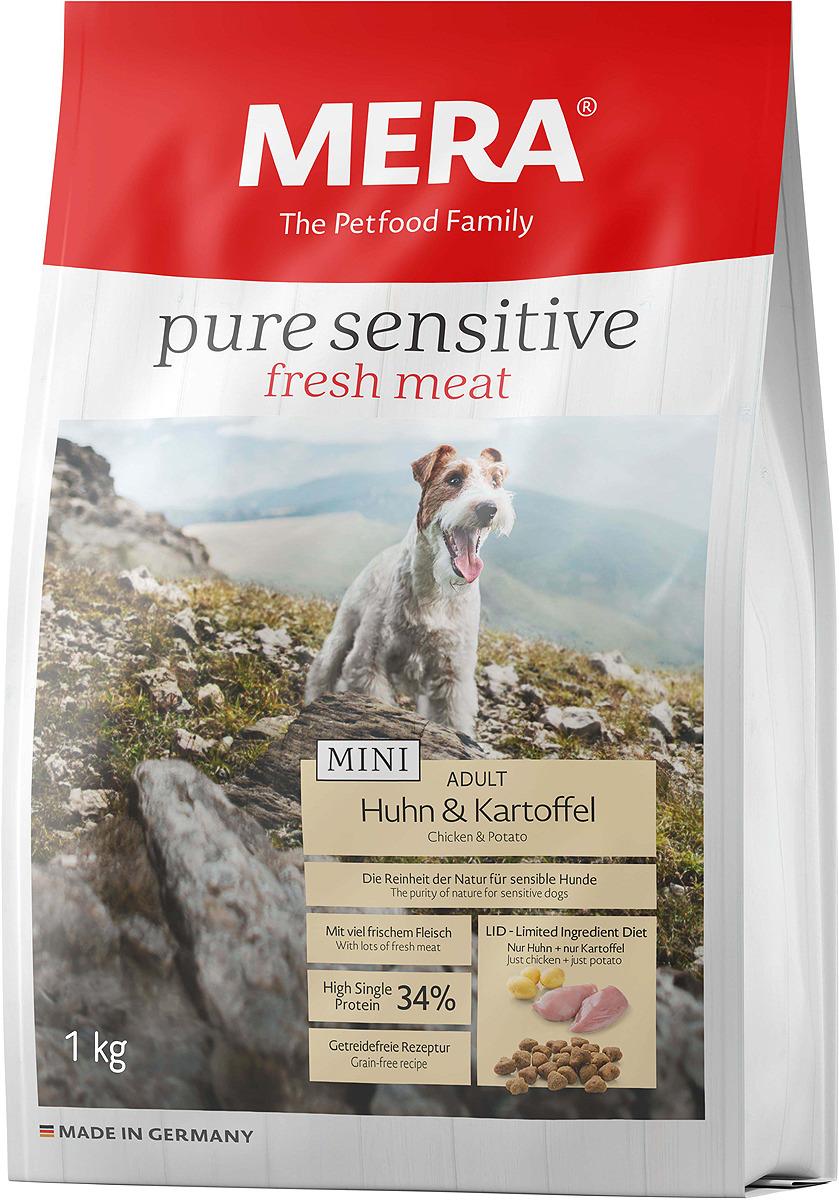 Корм сухой Mera Pure Sensitive, для собак малых пород, курица и картофель, 1 кг