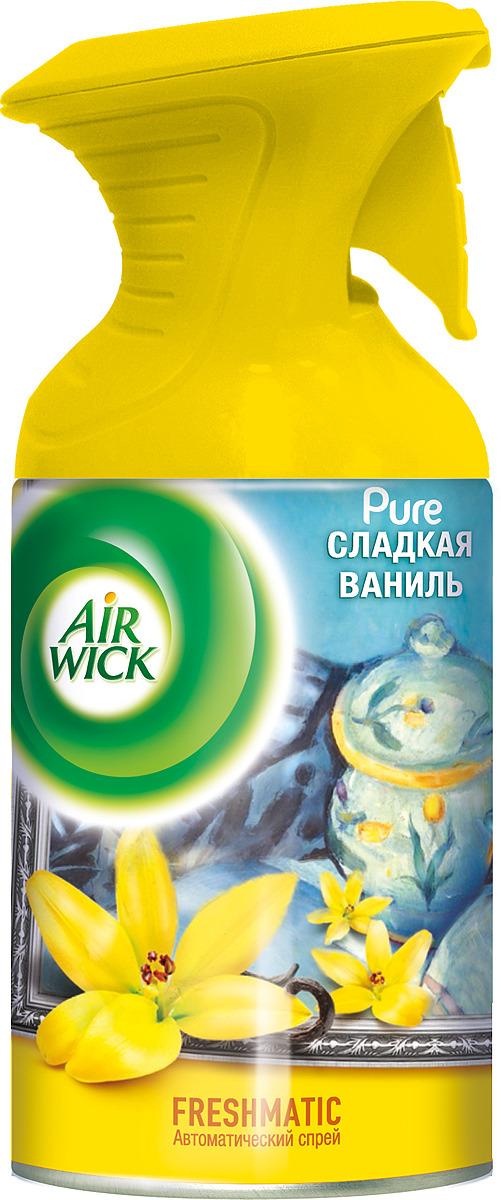 Освежитель воздуха AirWick Pure Сладкая ваниль, 250 мл для автомобиля испанские освежители для воздуха