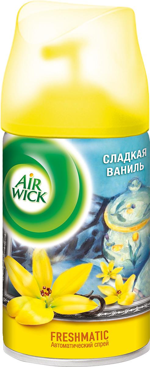 Освежитель воздуха AirWick Сладкая ваниль, сменный баллон, 250 мл air wick pure освежитель воздуха солнечный цитрус 250 мл